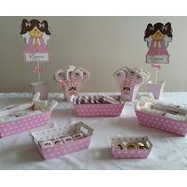 Candy Bar Bautismo!20 Nenes 120 Golosinas Más Bandejas