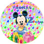 Kit Imprimible Mickey Baby Candy Bar Etiquetas Golosinas