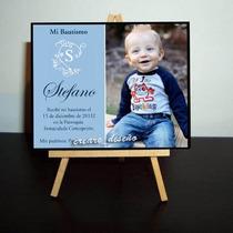 Mini Atril Souvenir Bautismo 1er Añito Bebé - Con Tus Fotos