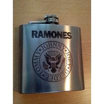 Petaca Acero Inoxidable Diseño Personalizado Ramones