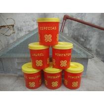 6 Condimenteros Super Retro - Unicos En Ml
