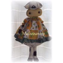 Muñecos Country Vaca Porta Bolsas 60cm