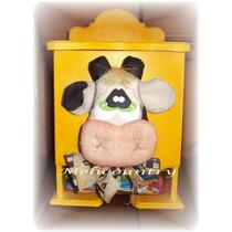 Caja Porta Sobres De Jugo Vaca Muñecos Country