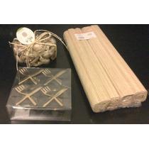 Servilleteros Bronce 4u + 4 Individuales Bambú + Potpourri