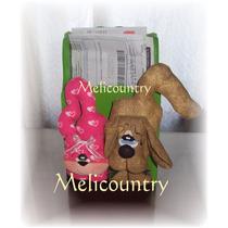Organizador Porta Sobres Muñecos Country Perro Y Gato Amigos