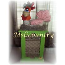 Muñecos Country Huevera Gallina