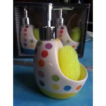 Dispenser Para Detergente Jabon Liquido Incluye Esponja