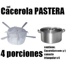 Cacerola Pastas Cuccipasta Olla Pastera Canasto Triangulo
