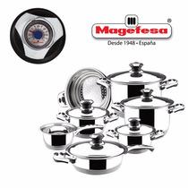 Bateria Cocina Magefesa Ecotherm C/ Ollas Sarten - 12 Piezas