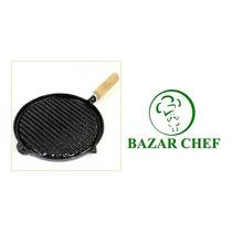 Plancha Bifera Rayada Enlozada # 4 31 Cm - Bazar Chef