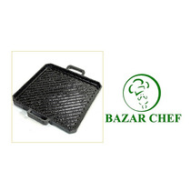 Plancha Bifera Cuadrada Rayada Enlozada # 2 - Bazar Chef