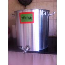 Olla Aluminio 50 Litros Para Cerveza Con Regla