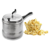 Pochoclera Olla Aluminio Familiar Para Pochoclos Pop Corn