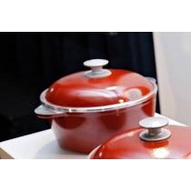 Cacerola Y Sarten Con Antiadherente En Color Rojo