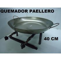 Quemador De Paellera Con Paellera Profesional 50 Cm Arado