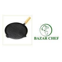 Plancha Bifera Rayada Sin Enlozar # 3 27 Cm - Bazar Chef