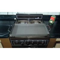 Chapa Bifera Plancha Para Cocinar , 26x52 Dos Hornallas