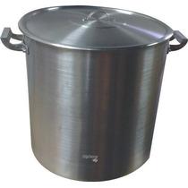 Olla Aluminio Gastronomica N°55 C/ Tapa 131 Litros Reforzada