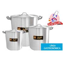 Olla Aluminio 34cm Gastronomica- Bazar