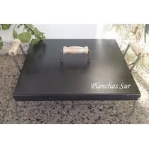 Plancha Bifera Con Tapa Y Patas 48x48x8cm Espesor 3,2mm