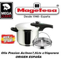 Olla A Presion Acero Inox Magefesa C.7,5lts España 3 Fondo