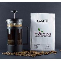 Cafetera De Émbolo, Prensa Francesa De 1 Litro + Café Ezenza