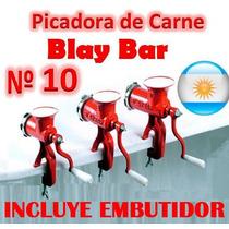Maquina Picar Carne Nº 10 Manual Blay Bar Picadora Embutido