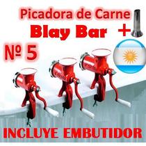 Maquina Picar Carne Nº 5 Manual Blay Bar Picadora Embutido