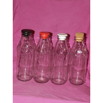Botellas X4 Tapon Plastico Corcho Candy 500 Cc Once Olivos