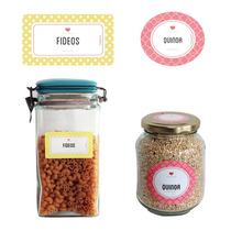 Etiquetas Para Cocina Frascos Vidrio Alacena Inc. 5 Paquetes