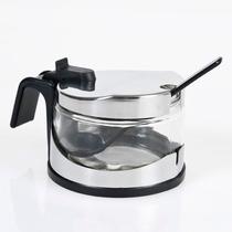 Azucarera De Metal Y Vidrio Steel Con Cuchara Cocina Morph