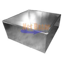 Tortera Cuadrada Aluminio Fuente Torta Molde Bandeja Metal