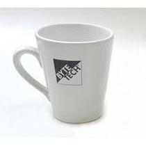 Taza Conica En Ceramica Con Su Logo Promocional Publicitaria
