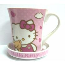 Hello Kitty Taza De Ceramica Con Platito, Villa Urquiza