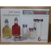 Set Condimentero X6 Pzas Código 341