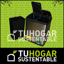 Cesto Tacho Para Reciclaje Dividir Basura Colores Residuos