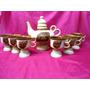 Chocolatera Tetera Y 5 Jarros En Ceramica Vitrificada(191f