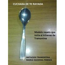 Cuchara Te Acero Imitacion Athenas Rayado De Tramontina