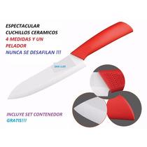 Cuchillo - Set De Cuchillos Ceramicos - Ideal Hogares -