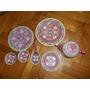 Antiguo Juego De Te De Porcelana China Color Rosa Coleccion!