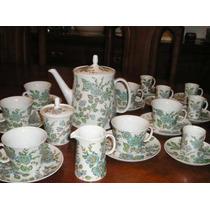 934- Juego De Te Y Cafe Porcelana Marly Triana