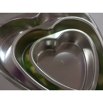 Molde Para Torta De Aluminio En Forma De Corazon Num. 1