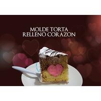 Molde Para Torta Relleno Corazon, 3 Pisos, Bizcochuelos