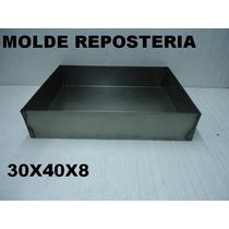 Molde Torta P/ Horno Pastelero 30x40x8 Asadera Bizcochuelos