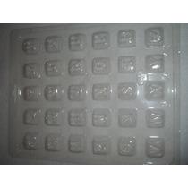 Placa Molde Para Chocolate ,chocomensaje Bombones Con Letras