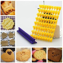 Molde Letras Repostería Sellos Galletas Tortas Cupcakes Fond