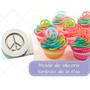 Molde Silicona Simbolo Paz Cupcake Torta Reposteria Porcelan