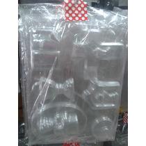 Moldes De Plástico Para Bombones Jabones Velas X 5 Planchas