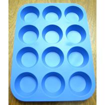 Moldes De Silicona Muffins X 12
