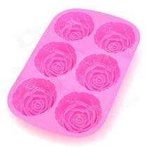 Molde De Silicona Rosa Muffis Cupcake Tortas Jabones Flanes